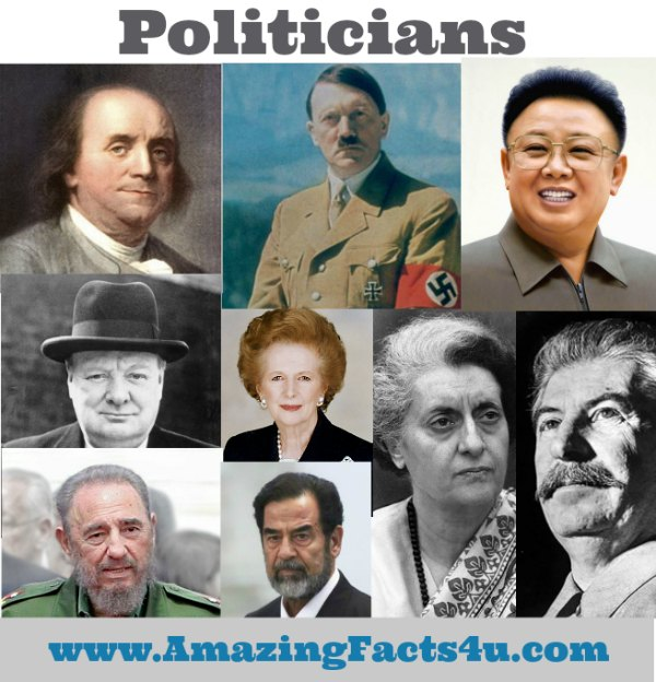 Politicians Amazing Facts 4u