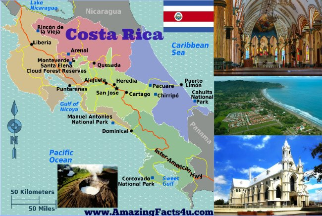 Costa Rica Amazing Facts