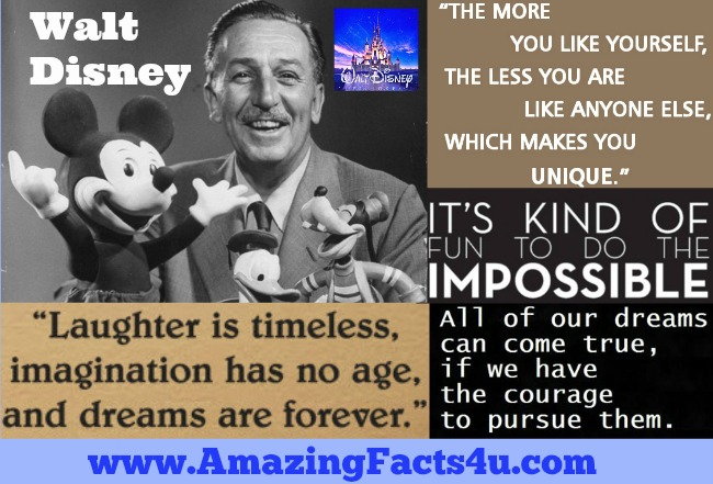 Walt Disney Amazing Facts